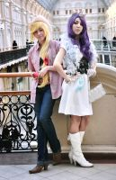 My Little Pony cosplay - Applejack and Rarity by dasha-hm