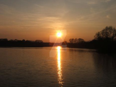 Easter Sunset over Reservoir by Annelisa-Views