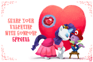 Happy Valentines - Pony/mario edition by RZSTUDIO