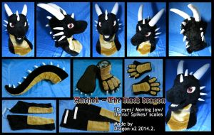 Anrhok the black dragon half suit by dragon-x2
