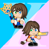 Chibi FFX and X-2 Yuna by LegendaryFrog