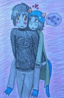 karkat: carry the sl33py cat girl by shayminlover492