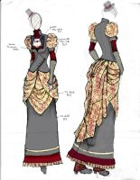 Victorian/Steampunk Fashion Design 4 by angerbunnie