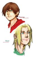 -The Maze Runner- Thomas and Newt by MonaLuffy