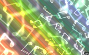 Music Bokeh Wallpaper by Sandien