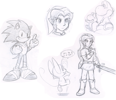Random Sketches by Nintendrawer