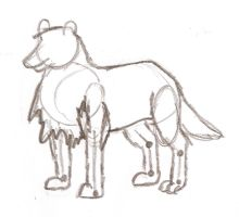 Wolf, first rough draft by SheepSlave