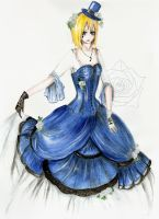 Lady in blue by WhiteBumblebee