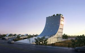 WuhanOCT Visitor Center by Wittermark