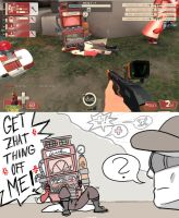 TF2: During battle by Bielek