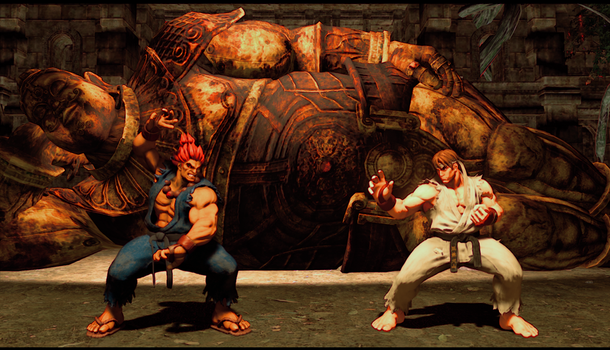 Sagat Stage Alternate Lighting Setting by monkeygigabuster