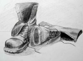 combat boots by einule
