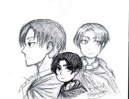 Levi doodles by redhotcinnamontwist