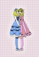 Dots and Ribbons by scissors-and-lace