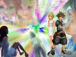Sora, Kairi, and Namine... by queen-of-knightmares