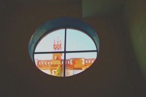 Round window above, stock by paintresseye