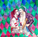 Harley and Joker by CrazyVik97