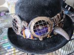 Buffalo-Horned Crystal Arrowhead Hatband 3 by Windthin