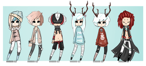Some Adoptables [60-100point] TAKEN= by Voodoo-Elf