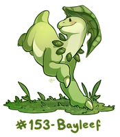 Pokemon #153 - Bayleef by oddsocket