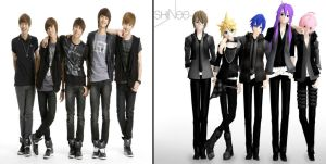 MMD and SHINee (Comparisment) by Vocalizer