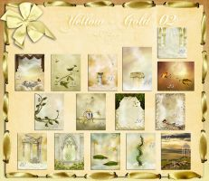Backgrounds  Yellow Gold  02 by flaviacabral