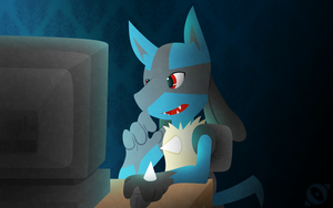 Lucario request for Pokelink21 by Origamigirl1223