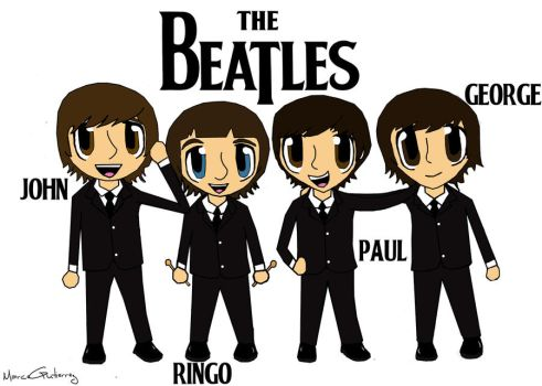 The Beatles in the 60's by Marcewentzurie