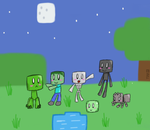 CUTIE MOBS (Overworld) by TheDrawingDino123