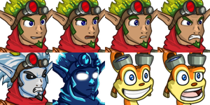 Jak and Daxter Faceset by Memoski