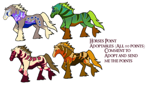 Horse Adoptables (10 Points Each) by Asoq