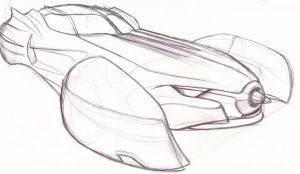 Batmobile Sketch III by speeddemon575