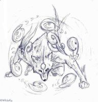 Amaterasu sketch by WhiteK9