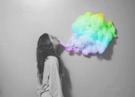 Rainbow Smoke by ThatTrickster