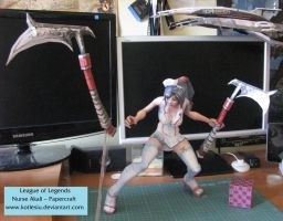 League of Legends Nurse Akali Papercraft - Q skill by kotlesiu