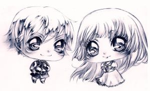 PC:: Sharlin and Rei_chibi by Grayalzz