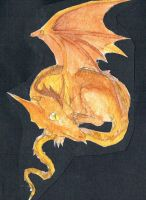 demon diary dragon watercolour by searingdestiny