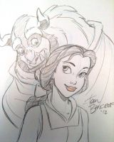 Beauty and the Beast sketch by tombancroft