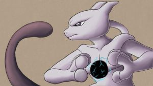 Mewtwo uses Shadow Ball by WeirdoFish