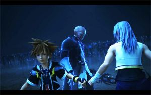 sora and riku vs Xehanort by blueaqua77