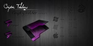 Violet Empty Folder by Drawder