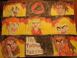 My Total Drama Team: The Twisted Tazzies by Sabreleopard