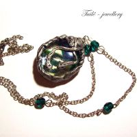 Slytherin necklace by Tuile-jewellery