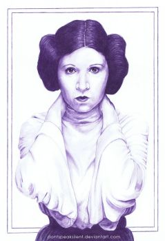 Dear Princess - Carrie Fisher 1956-2016 by DontSpeakSilent