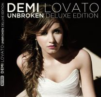 Demi Lovato UNBROKEN Deluxe Edition: My CD Cover by Wyrywny