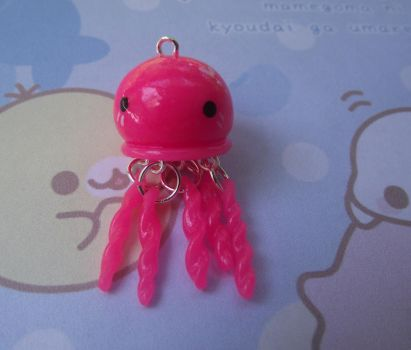 Clay Jellyfish Charm by funkypinkgal