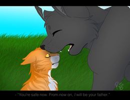 You're safe now... - Gray Wing and Thunder by RiverBelle