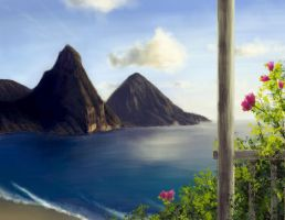St. Lucia - Pitons by TheMuteRobot