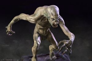 Ghoul 3d sketch by TARGETE