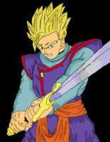 Gohan and the Z sword by naruto-goku-luffy